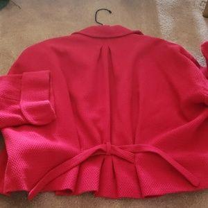 Yves Saint Laurent Red Swing blazer